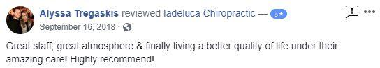 Iadeluca Chiropractic Patient Testimonial